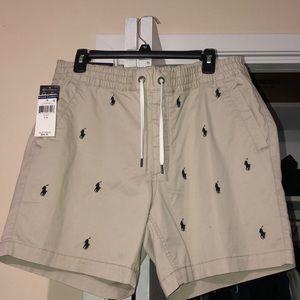 Polo Ralph Lauren monogram string shorts